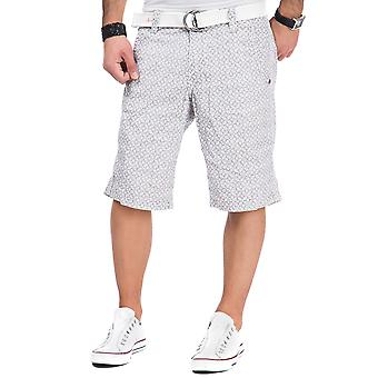 Time zone men's Chino shorts Russell pure white