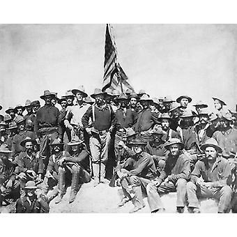 Theodore Roosevelt og Rough Riders San Juan Hill Cuba juli 1 1898 Poster trykk av McMahan bilde arkiv (10 x 8)