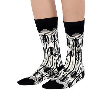 The Forest luxury combed cotton crew socks in black | Made by Ballonet