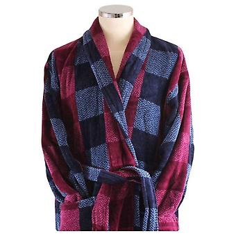 Bown of London Chester Mens Luxury Egyptian Cotton Velour Dressing Gown