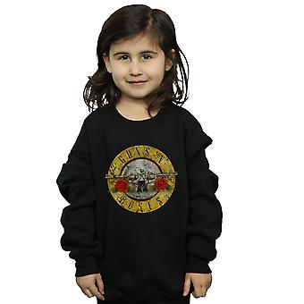 Guns N Roses Girls Vintage Bullet Logo Sweatshirt