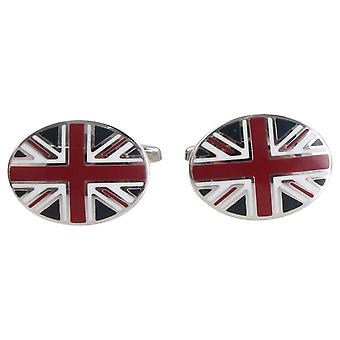 Zennor Union Jack Cufflinks - Blue/Red/Silver