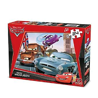 King Puzzel Cars 2 McQueen 24pc