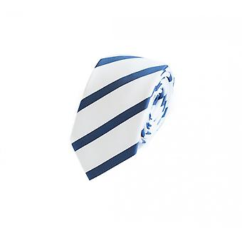 Tie tie tie tie 6cm white blue striped Fabio Farini