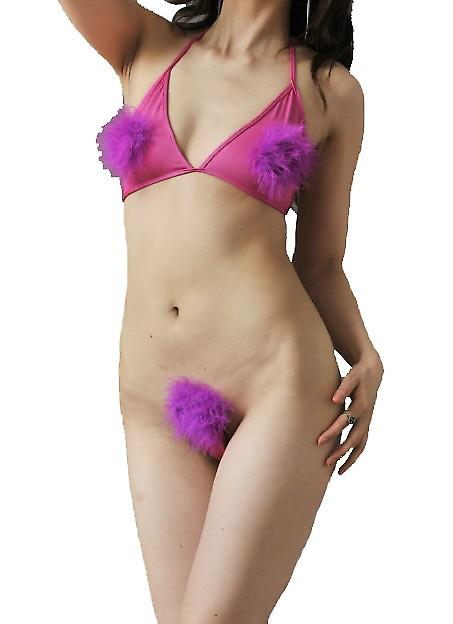 Waooh 69 - C-String Set Fuchsia Purple And Tassels