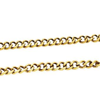 5m x Golden Plated Copper 1.5 x 2mm Closed Cable Chain CH1605