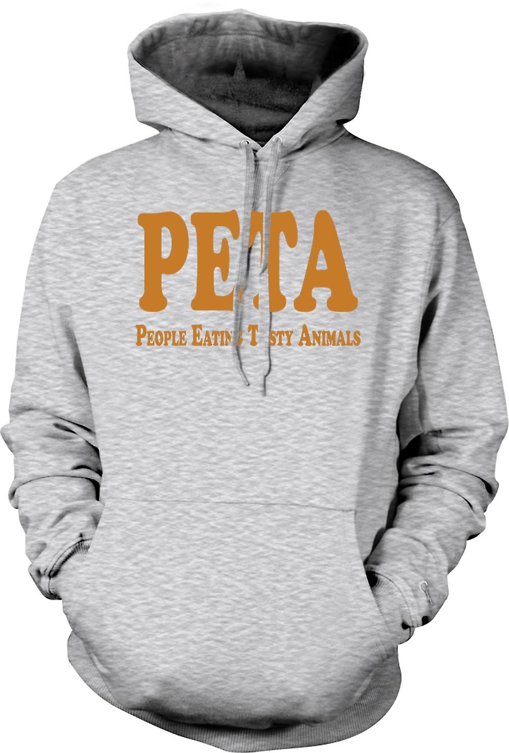 Mens Hoodie - Peta People Eating Tasty Animals - Quote