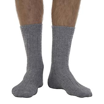 Scott men's extra warm Alpaca bed socks in grey | By J. Alex Swift