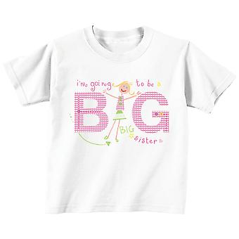 I'm Going to Be a Big Sister Tshirt Professionally Illustrated