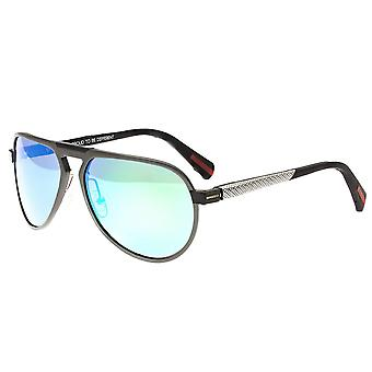 Breed Octans Titanium Polarized Sunglasses - Gunmetal/Green