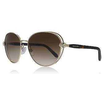 Bvlgari BV6087B BV6087B الذهب الشاحب 278/13 جولة نظارات العدسة الفئة 3 حجم 57 مم