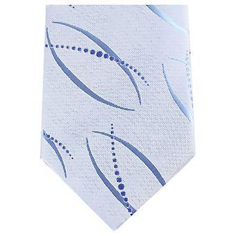 Knightsbridge Neckwear Unique Regular Polyester Tie - Light Blue