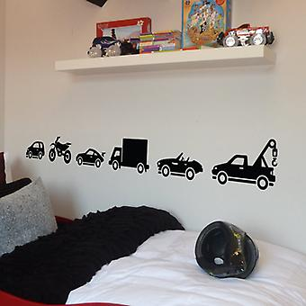 Vehicles Pack of 6 Wall Stickers