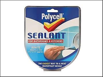 Polycell Sealant StripKitchen/Bathroom White  41mm