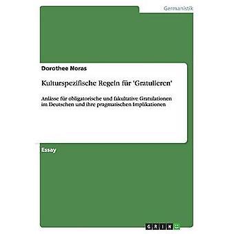 Kulturspezifische Regeln fr Gratulieren by Noras & Dorothee