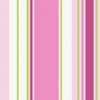 Poppins Stripe Childrens Girls Bedroom Nursery Pink Tappaper Holden Decor