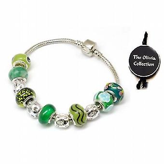 Toc Beadz Environmentally Friendly Green Bead Bracelet