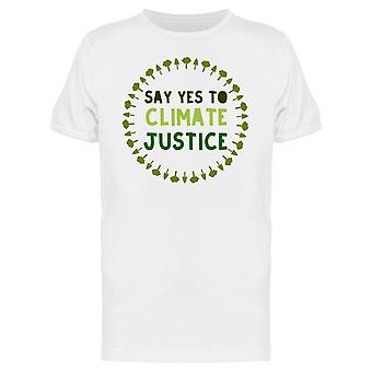 Say Yes To Climate Justice Forest Tree Wreath Graphic Men's T-shirt