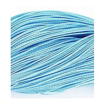 1 x azul claro encerado poliester 10 m x 1 m m correa cable longitud continua Y06795