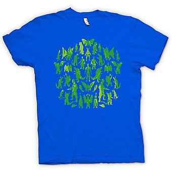 Kids T-shirt - Dinosaurs And Dragons Collage - Cool
