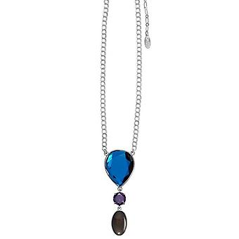 Pilgrim GoDiva ladies´ necklace  blue  purple/silver (549221)