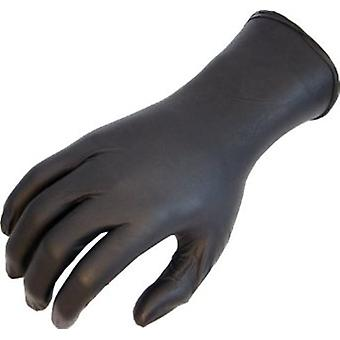 Showa 7700Pft Nighthawk Nitrile Coated Powderfree Disposable Black Glove X 50 Pack
