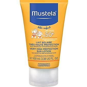 Mustela svært høy beskyttelse Søn lotion SPF50 + 100 ml