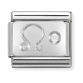 Nomination Classic Leo Zodiac Steel, CZ and 925 Silver Link Charm 330302/05