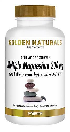 Golden Naturals Multiple Magnesium 200 mg (60 tablets)
