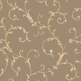 Sirpi Floral Leaf Pattern Fond d'écran Metallic Glitter Heavy Weight 20592