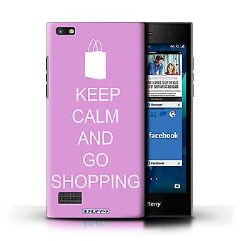 STUFF4 Case/Cover for Blackberry Leap/Go Shopping/Pink/Keep Calm