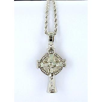Necklace with pendant Crucified Silver pendant