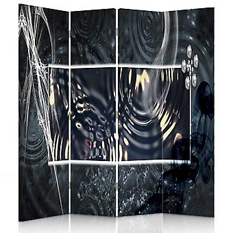 Room Divider, 4 Panels, Canvas, Abstract Water