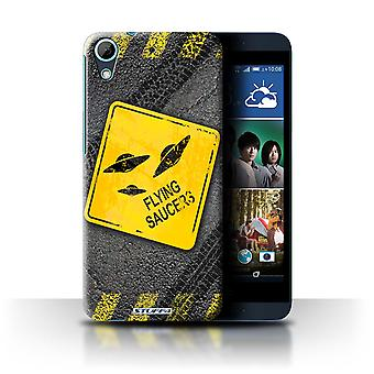 STUFF4 Case/Cover for HTC Desire 626G+/UFO/Flying Saucers/Funny Road Signs