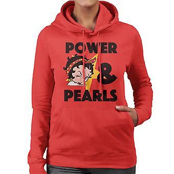 Betty Boop Power Pearls Frauen's Kapuzen Sweatshirt