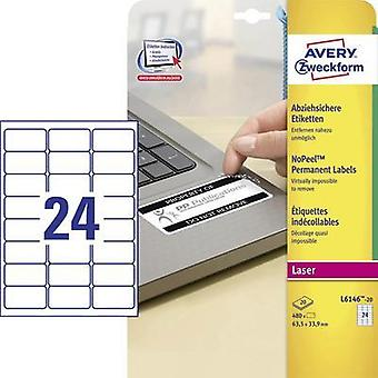 Avery L6146-20 self-adhesive label Avery-Zweckform L6146-20