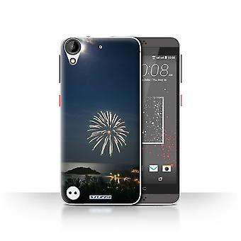 STUFF4 Case/Cover for HTC Desire 630/Firework/Moonlight/Thailand Scenery