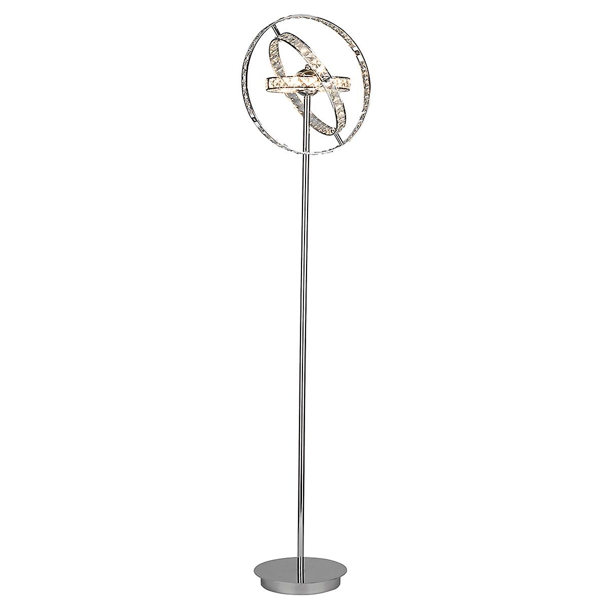 Dar ETE4950 Eternity Contemporary Polished Chrome 6 Light Crystal Floor Lamp
