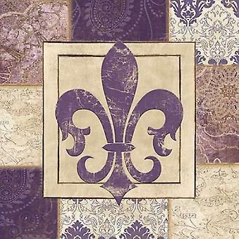 PAISLEY FLEUR DE LYS Poster Print par Piper Ballantyne