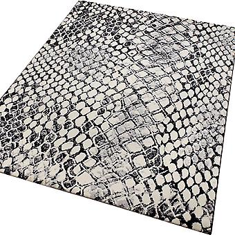 Weconhome serpent tapis 0722 01 gris et noir