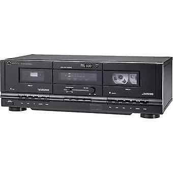 Cassette deck Renkforce TP-1000 Black Twin cassette deck