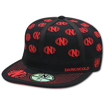 Dark n Cold Multi Logo Baseball Cap Black Red