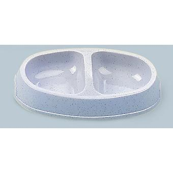 Picnic Twin Cat Bowl Assorted Colours 150ml 23.5x13cm (Pack of 12)
