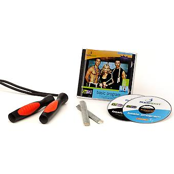 GoFit Ultimate ProRope Workout Springseil mit Audio-CD