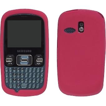 Wireless Solutions Silicone Gel Case for Samsung R350 Freeform - Red