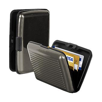 Babz Aluminium Credit Card Business Card Holder To Keep Cards Safe In Grey