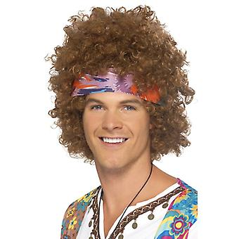Hippie Afro Braun with headscarf