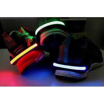 Søen Yu neon LED sko klip blå