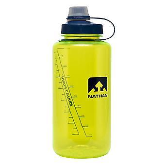 Nathan big shot narrow mouth bottle 1 liter yellow 4321TNSY