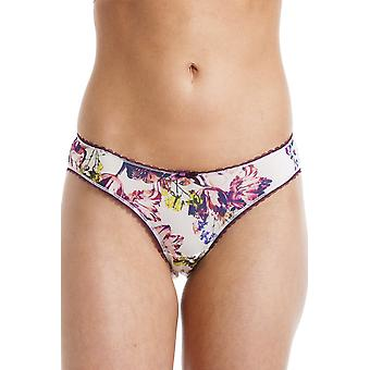 Royce Lingerie Womens Florence Cream And Aubergine Floral Briefs